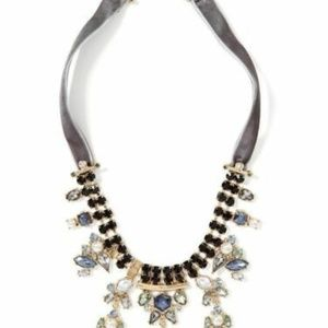 Banana Republic Velvet Jewel Statement Necklace NW